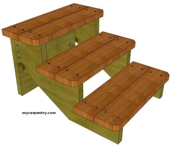 Best Free Standing Custom Stairs Wood Deck Steps Stairs 400 x 300