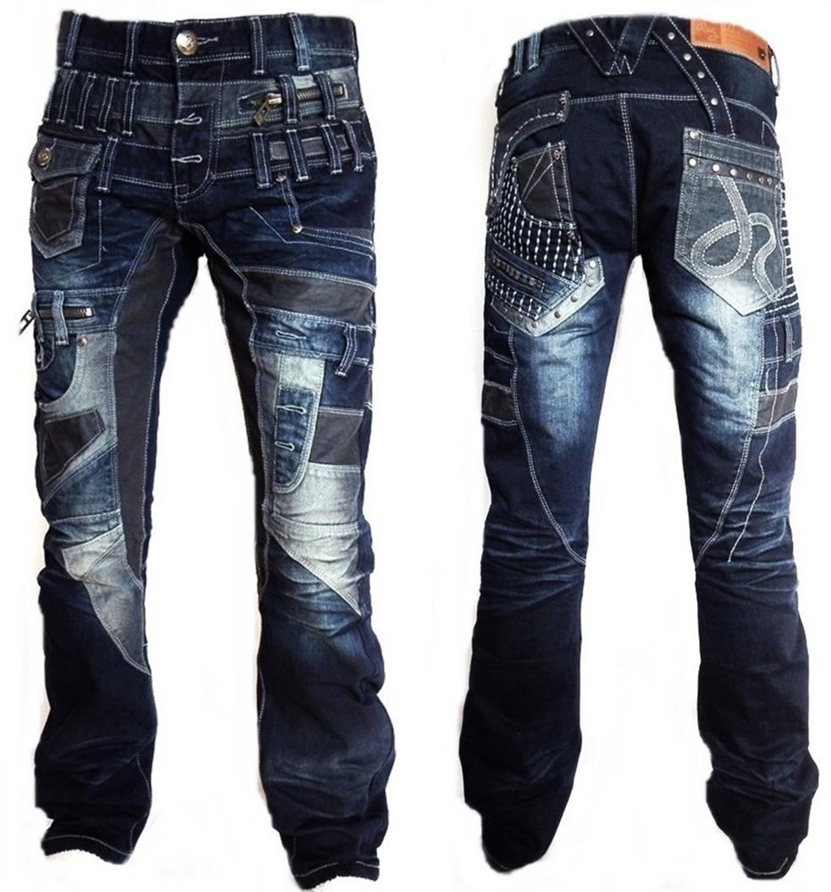 Cipo /& Baxx C 894 Herren Denim blue blau Zipper raw Jeans Hose Jeanshose Männer