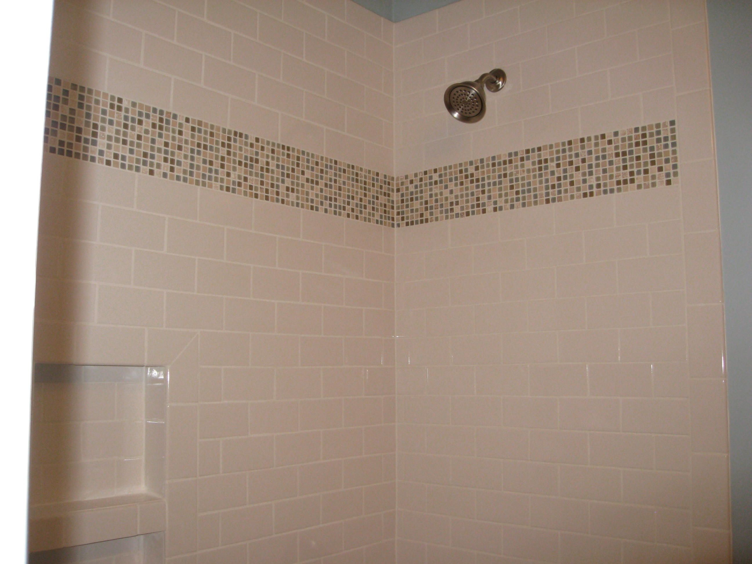 Brown and white tile bathrooms guest bathroom we re tiled the mosaic placement for blue bathroom white tiles crystalline blue mosaic tiles rows and white bullnose tiles dailygadgetfo Choice Image