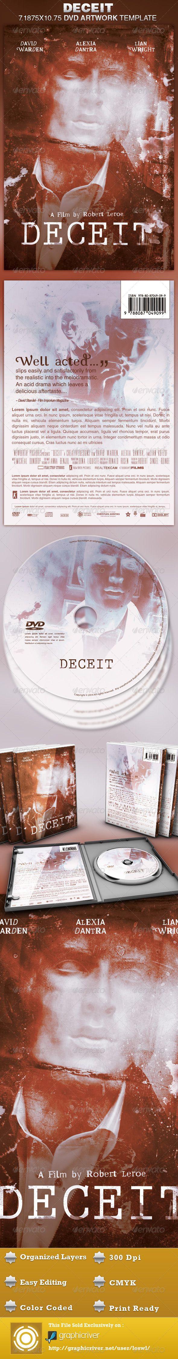 Deceit DVD Artwork Template | Photoshop