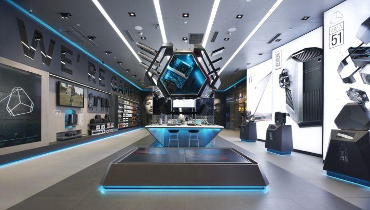 alienware flagship store by gramco chongqing china retail rh pinterest com Retail Design Drawings retail interior design blog