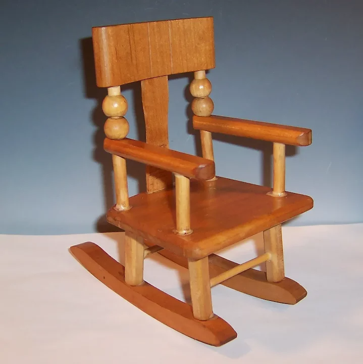 Vintage Wooden Doll Rocking Chair For 8 Dolls Ginnette Ginny Ruth S Redemptions Antiques Collectibles Ruby In 2020 Rocking Chair Wooden Rocking Chairs Chair
