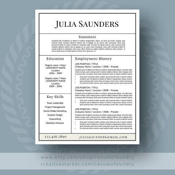 A Well Designed Modern Resume Template Gives You The Clear