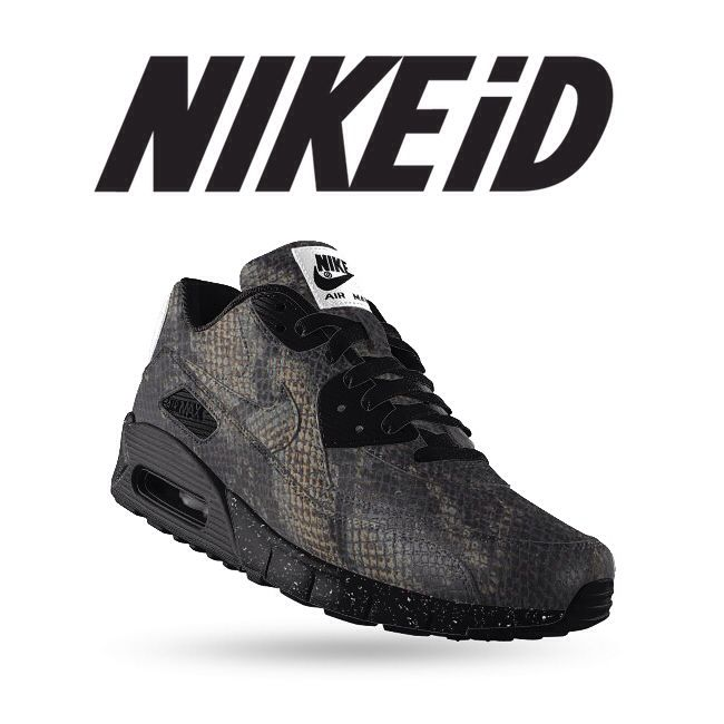 And here's our #NIKE AIR MAX 90 iD 'SNAKE BLACKOUT' efforts