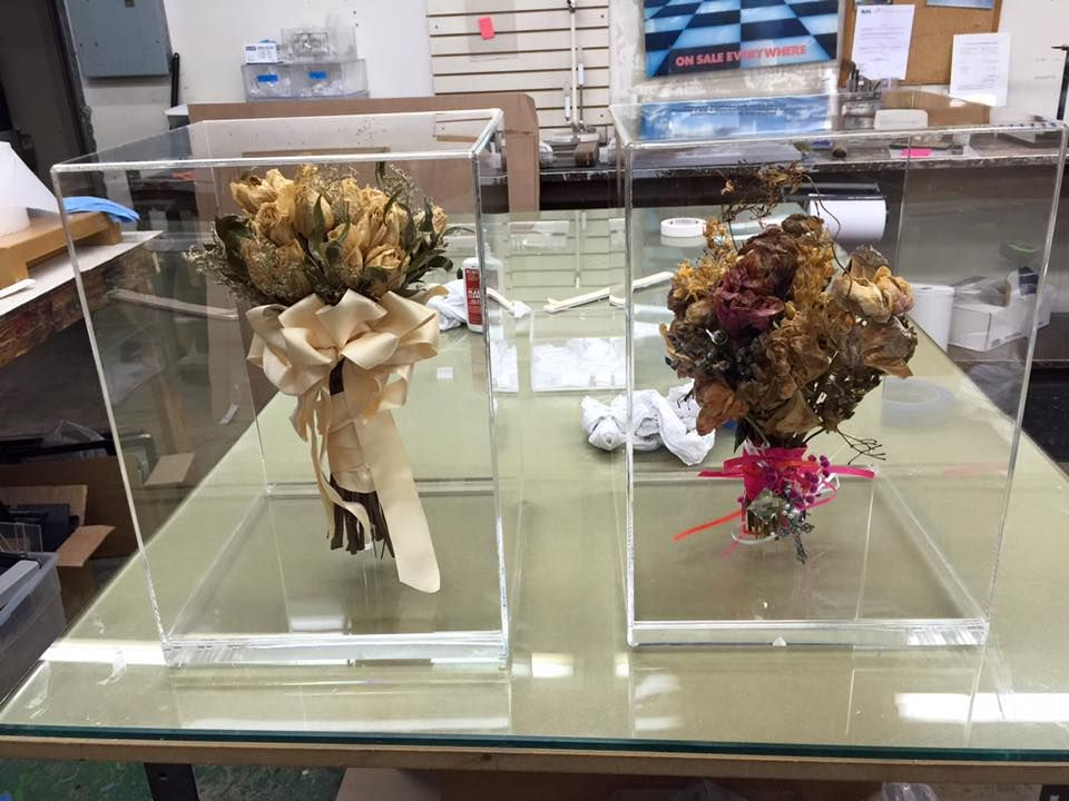 Custom Acrylic Display Boxes for Wedding Bouquets. Call us at 214 ...