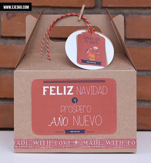 Cajita navidad roja una forma muy original de envolver - Envolver regalos de forma original ...