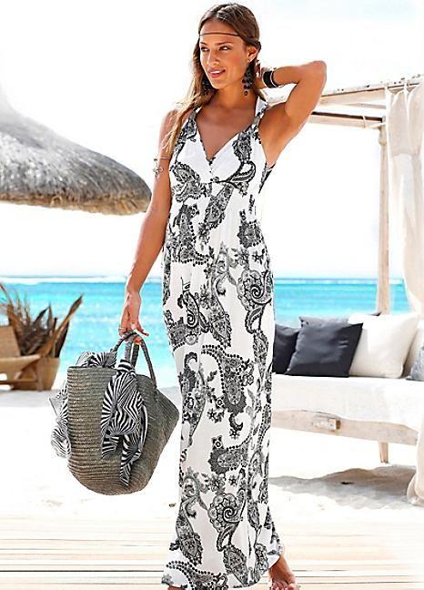 3ffbf99aef Black Printed Maxi Dress by LASCANA | HOT SUMMER | Dresses, Summer ...
