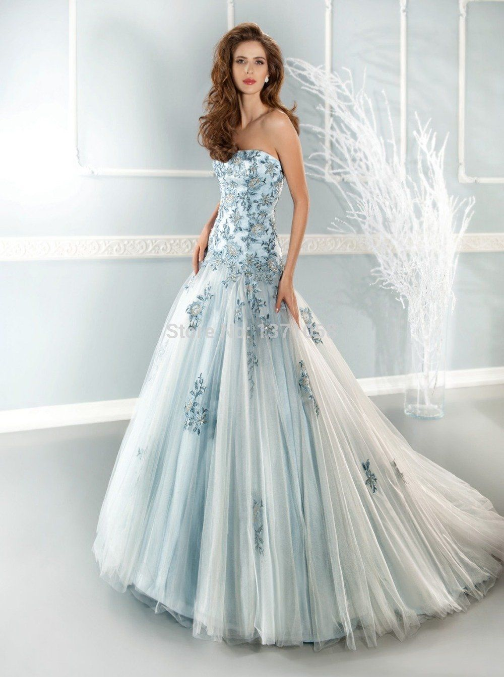 Fashion color wedding dresses strapless specials pinterest