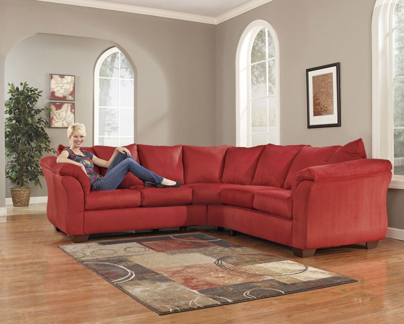 Beautiful Red Sectional Sofa Also Available In Mocha