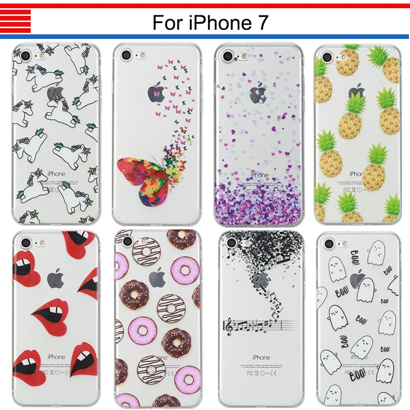 >> Click to Buy << JURCHEN Back Case For iPhone 7 For iPhone7 Case Cover Cute Cartoon Animal Painting TPU Soft For iPone 7 Case Silicone ihone Capa #Affiliate