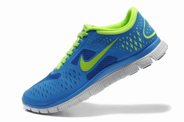 Herren Nike Free 4.0 V2 Schuhe Konigsblau Grun   Herren Nike