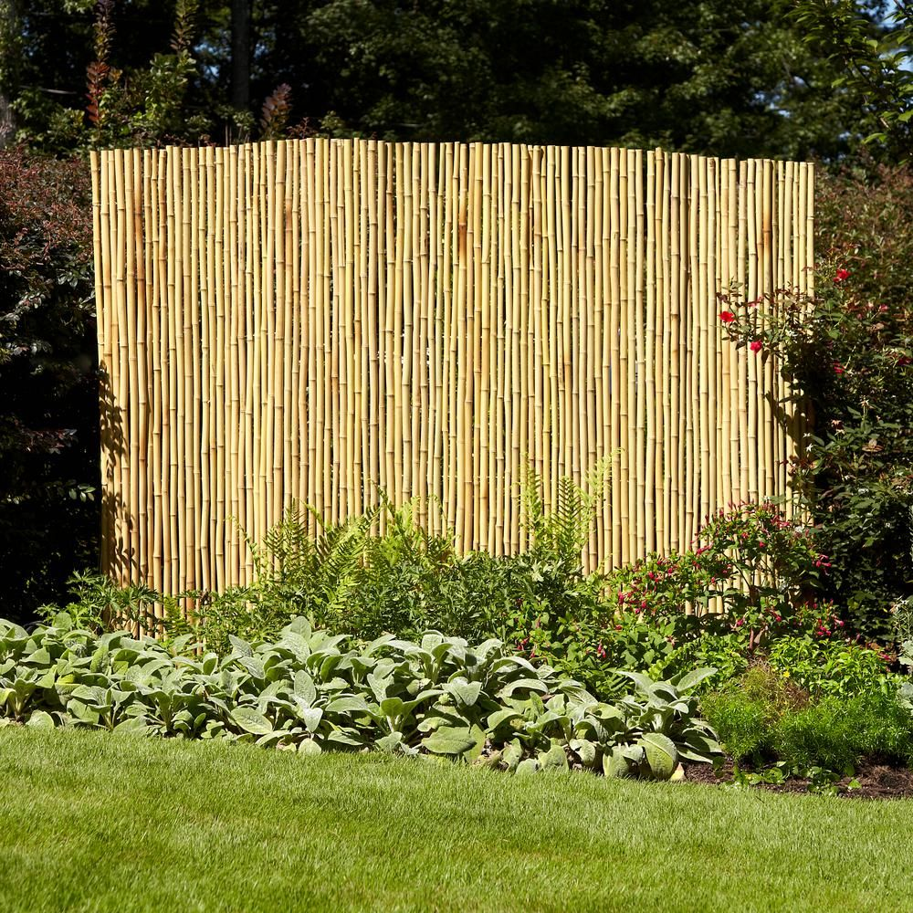 4 Ft H X 6 Ft W Natural Bamboo Fence 4477405 In 2020 Bamboo