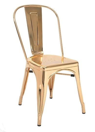 Steel Chair Gold Low Seating Patio Chairs Industrial In Finish For Indoor Bonus