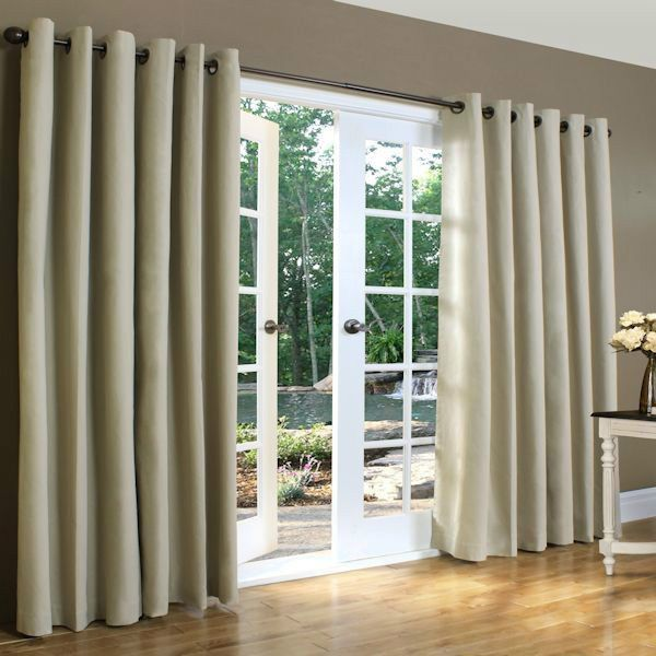 New Thermal Insulated Grommet Top Drapes 160x84 Linen In
