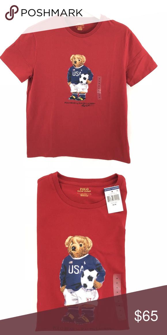 Ralph Lauren Polo Bear Usa Soccer Shirt Brand New With Tags Multiple