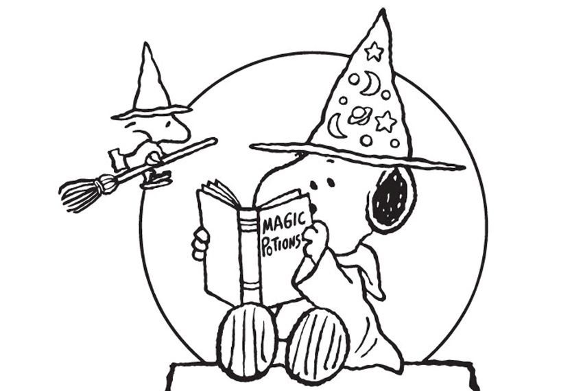 Peanuts Halloween Coloring Pages