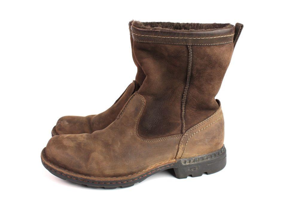 b68544e97ed Ugg Men's Hartsville Waterproof Sheepskin Leather Boot 5626 Brown ...