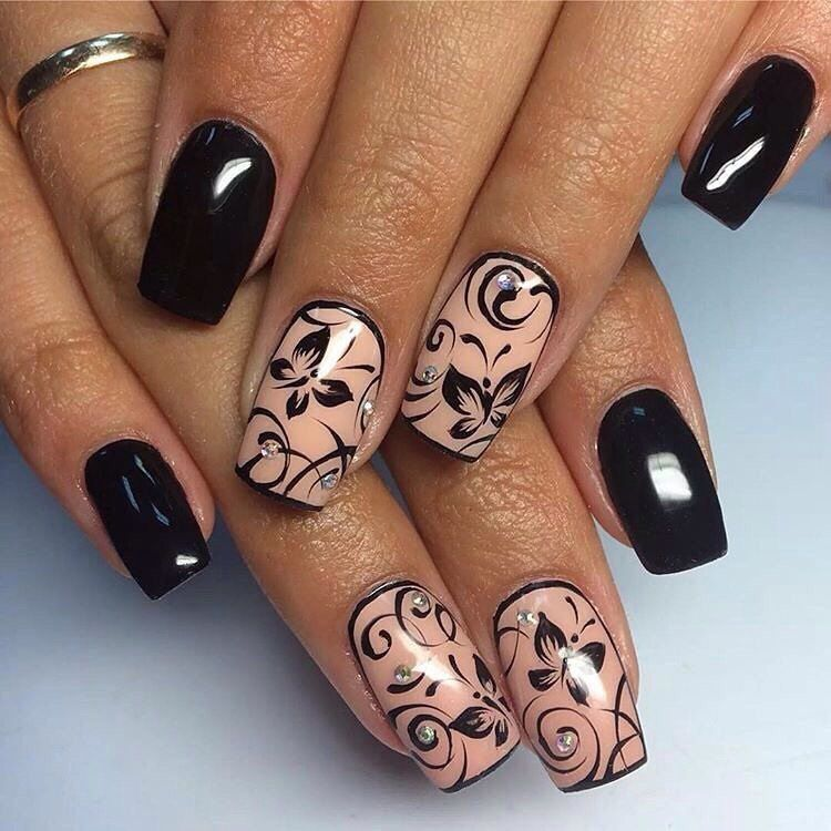 Nail Art #3060 - Best Nail Art Designs Gallery | Black manicure ...