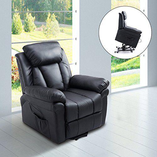 Homcom Fauteuil de relaxation électrique fauteuil releveur inclinable avec  repose-pied ajustable simili cuir noir neuf 13BK d74ea571dbe4