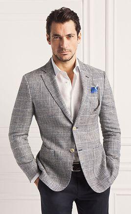 Gray jacket, white shirt & black pants for men's classic clothing ...