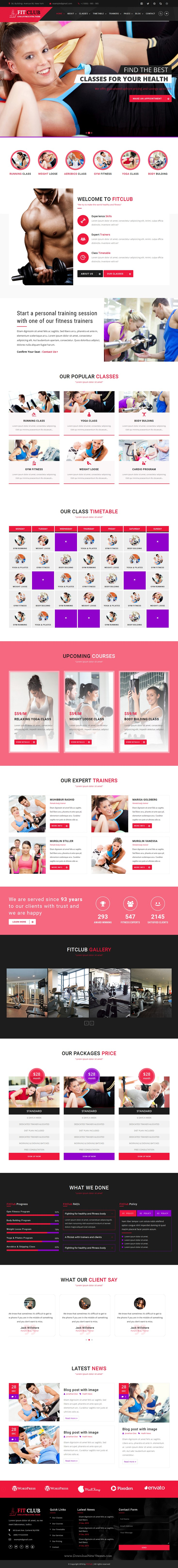 Fitclub  Sports Health Gym  Fitness Html Template  Fitness