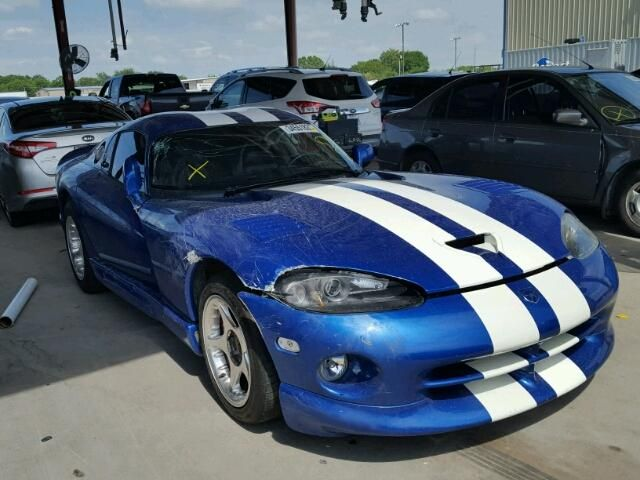 Salvage 1997 Dodge Viper Gts Coupe For Sale Salvage Title Dodge Viper Dodge Viper Gts Viper Gts