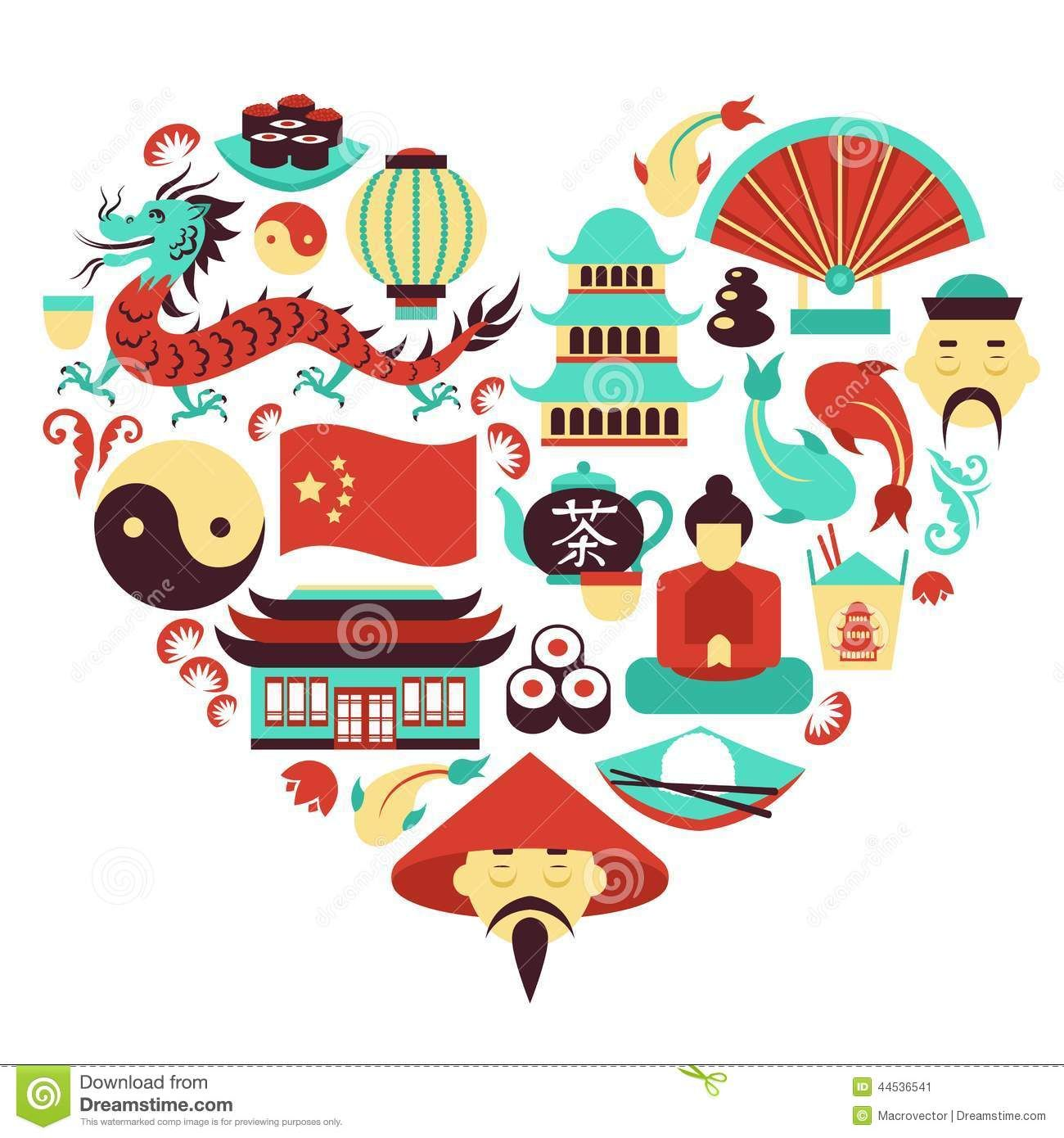 China symbols heart stock vector image 44536541 egypt for Chinese vector