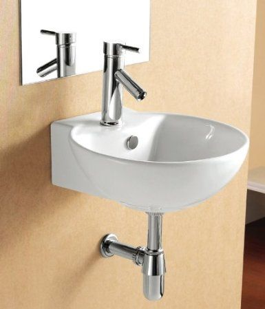 Elite Sinks Ec9819 Porcelain Wall Mounted Deep Bowl Sink White Amazon Com Possibility Small Bathroom Sinks Wall Mounted Bathroom Sinks Modern Bathroom Sink