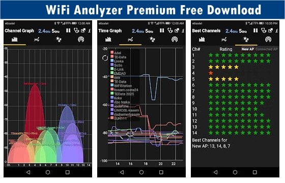 WiFi Analyzer Premium Free Download for Android Wifi