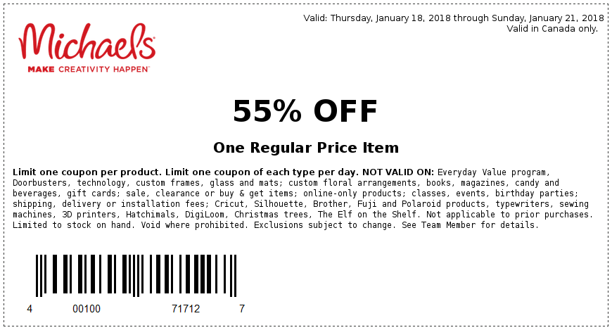 Coupons At Michaels Print Preview Michaels Craft Store Coupons Coupons Michaels Coupon