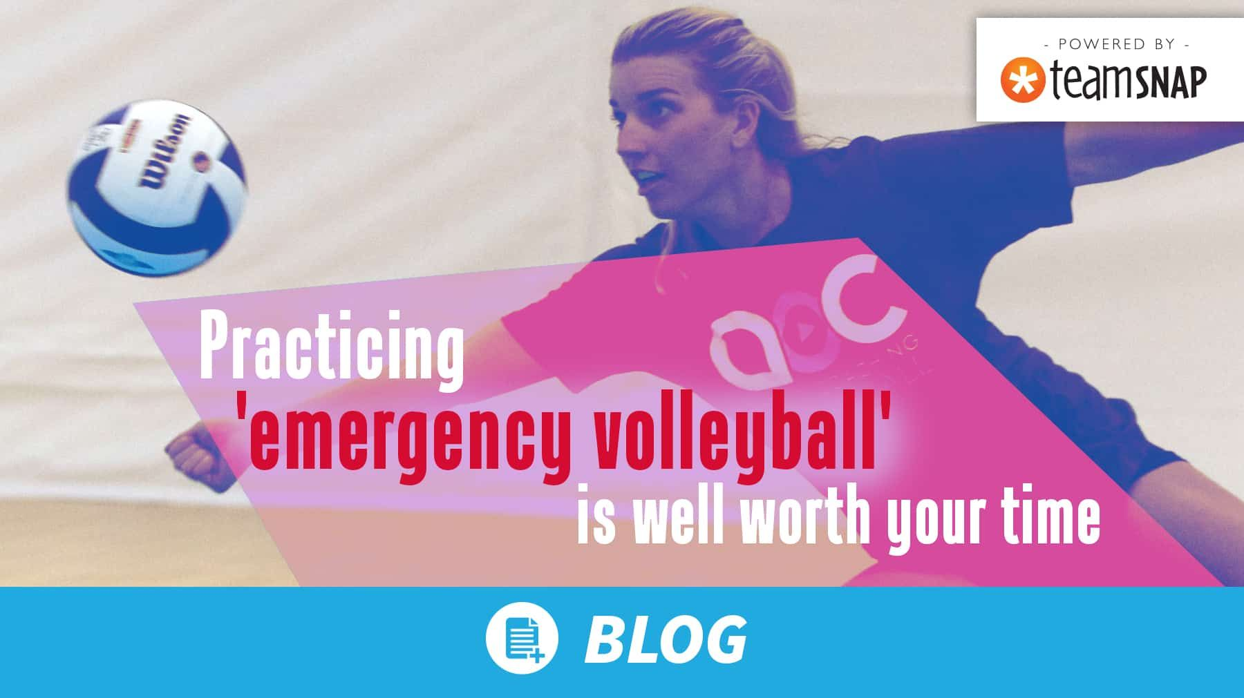 Practicing Emergency Volleyball Is Well Worth Your Time Coaching Volleyball Volleyball American Sports