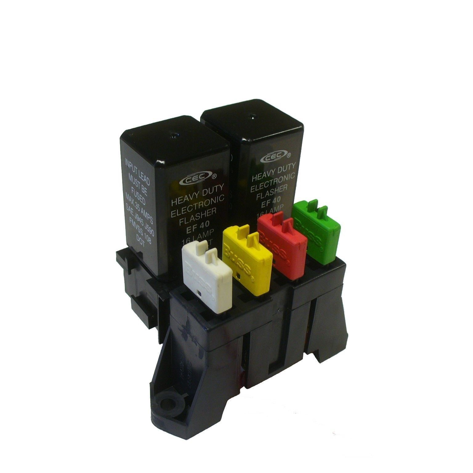 Atc 4 Way Fuse With Dual Relay Panel Block Holder With Buss Bar And Terminals Fuse Panel Fuses Paneling