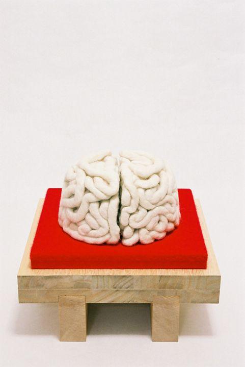Noodle made by Wool, wood and felt, artist: Yoshihiko Maeda
