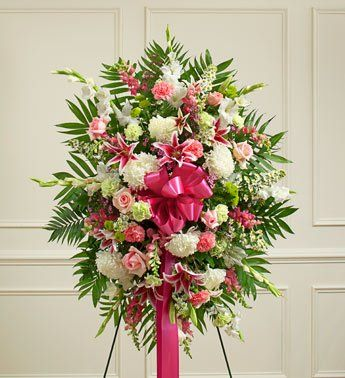 1-800-Flowers - Deepest Sympathies Pastel Standing Spray - Medium By 1800Flowers