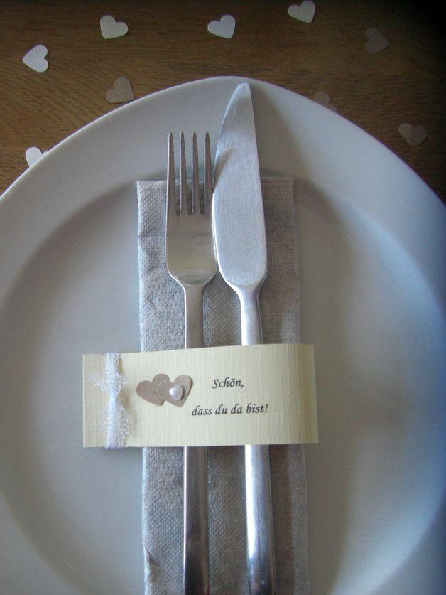 **10 individualisierbare Serviettenringe/ Platzkarten zur Hochzeit, Goldhochzeit... #Goldhoch... #napkinrings