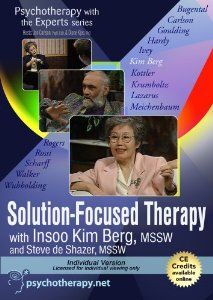 : Solution-Focused Therapy with Insoo Kim Berg (Individual Version):