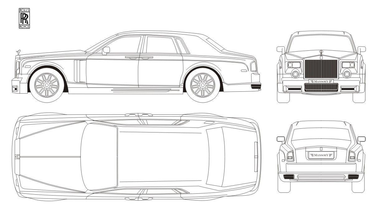 Image result for rolls royce phantom blueprint | Vehicle ...