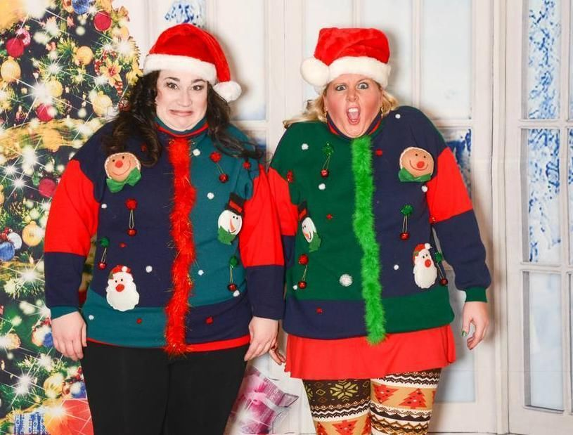 Men or Women Ugly Xmas Sweater Matching Pair Couple Crazy Style ...