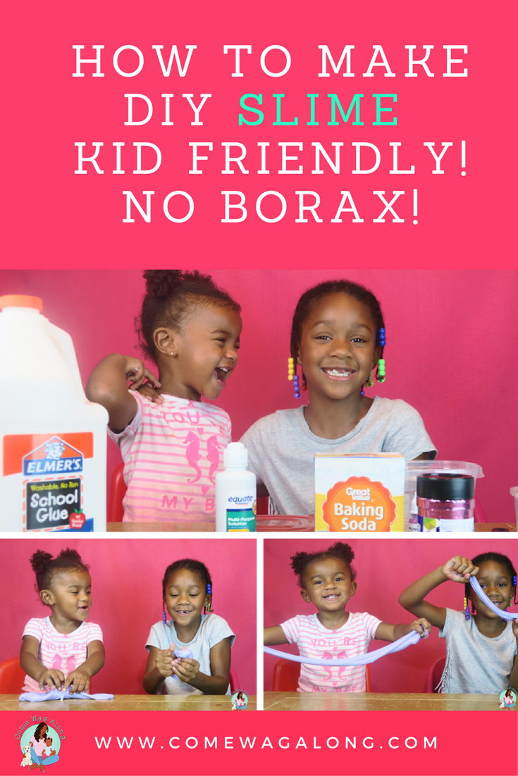 Do your kids want to make slime?  Here is a kid friendly DIY slime recipe with NO BORAX!
