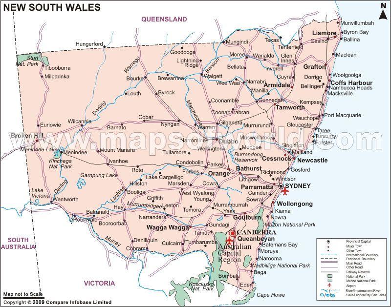 yamba australia map