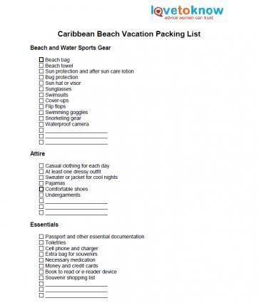 caribbean beach vacation packing list travel in 2018 pinterest