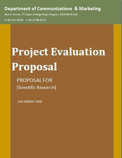 Project Evaluation Proposal Template  Wordstemplates
