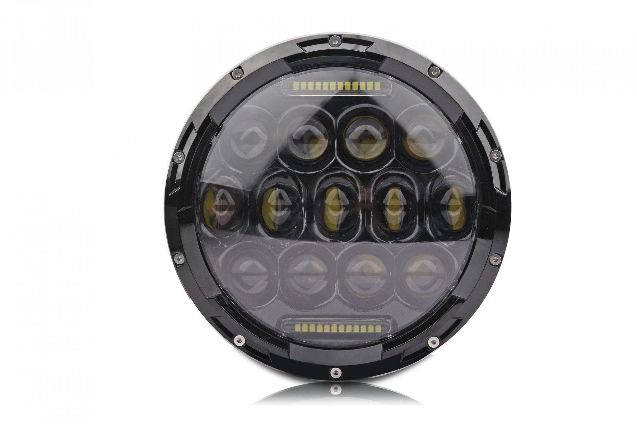 7 round led headlight 75 watt jeep led light bar headlights 7 round led headlight 75 watt aloadofball Images