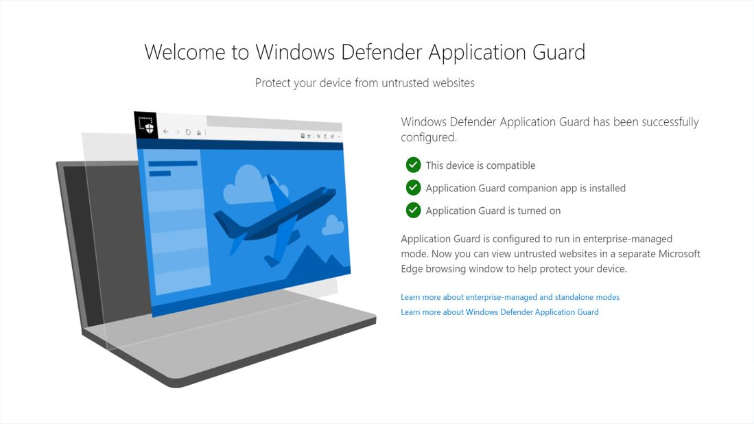 Microsoft's Application Guard Extension Brings Hardware