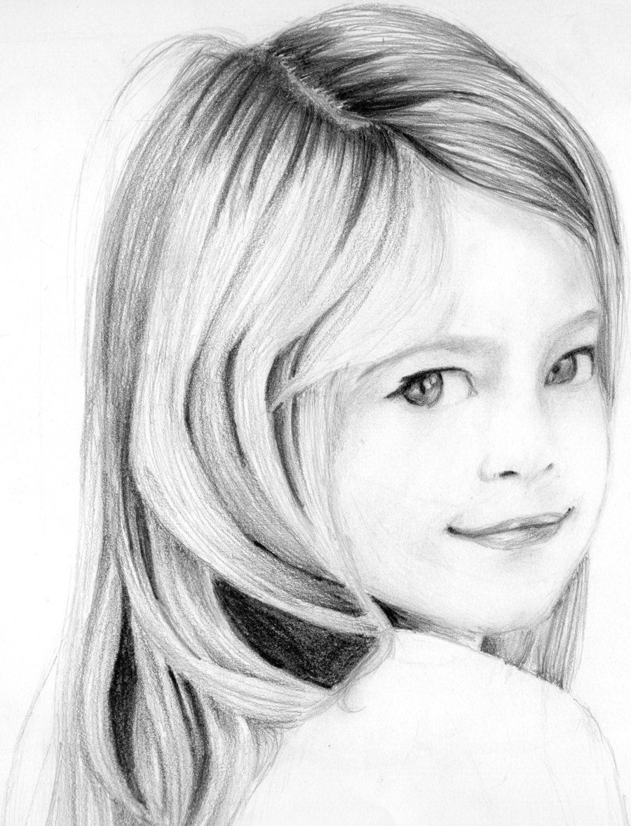 Portrait pencil drawing of a young girl by neeshma on deviantart