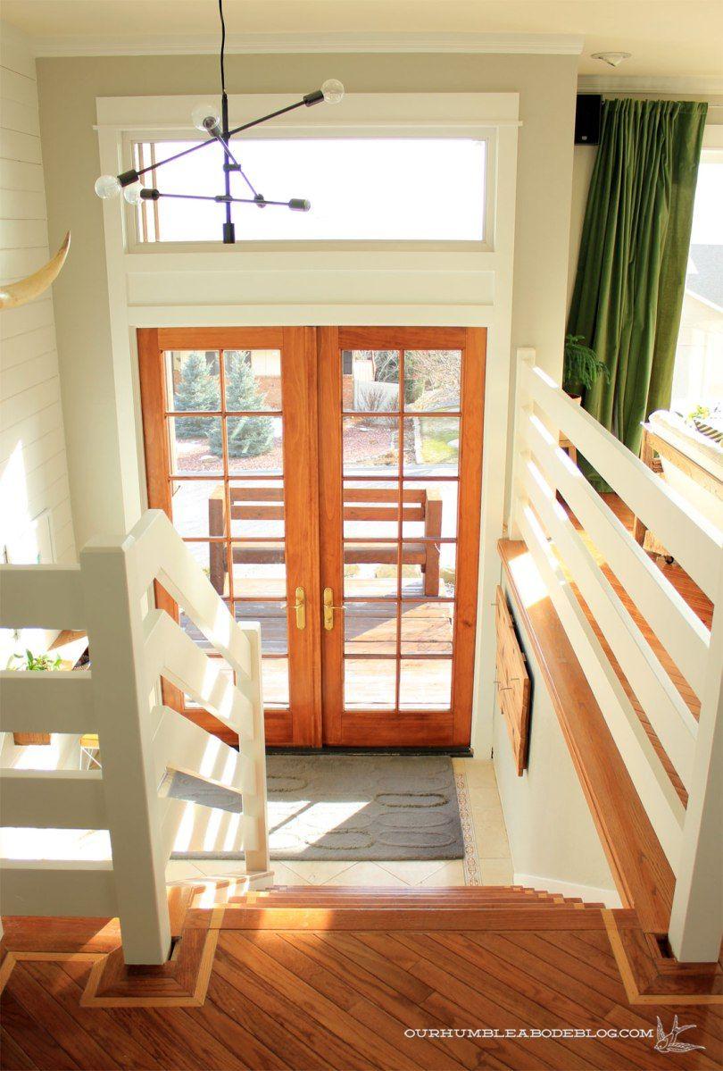 Best Horizontal Railing From Top Toward Door Stair Railing 640 x 480
