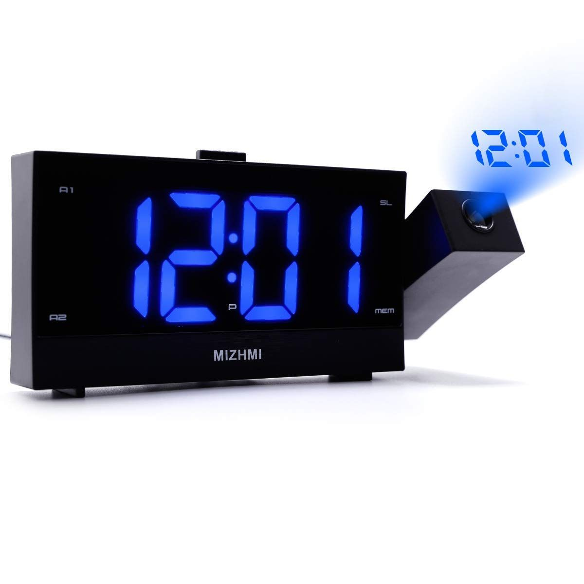 Radio Réveil de Projection Horloge Grand écran LED Alarme