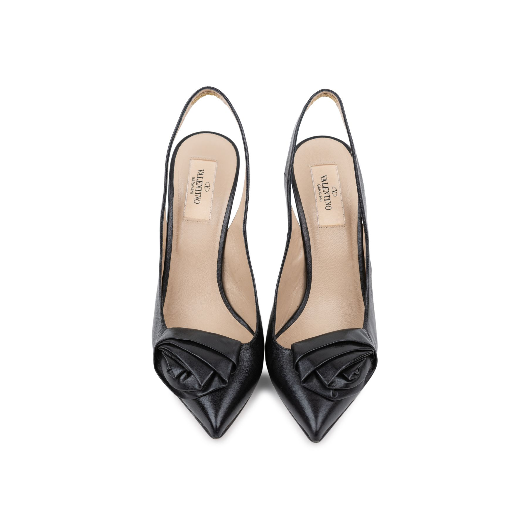 7b63306d5f4 Authentic Pre Owned Valentino Rosette Sling Back Pumps (PSS-240-00255).  Free international shipping