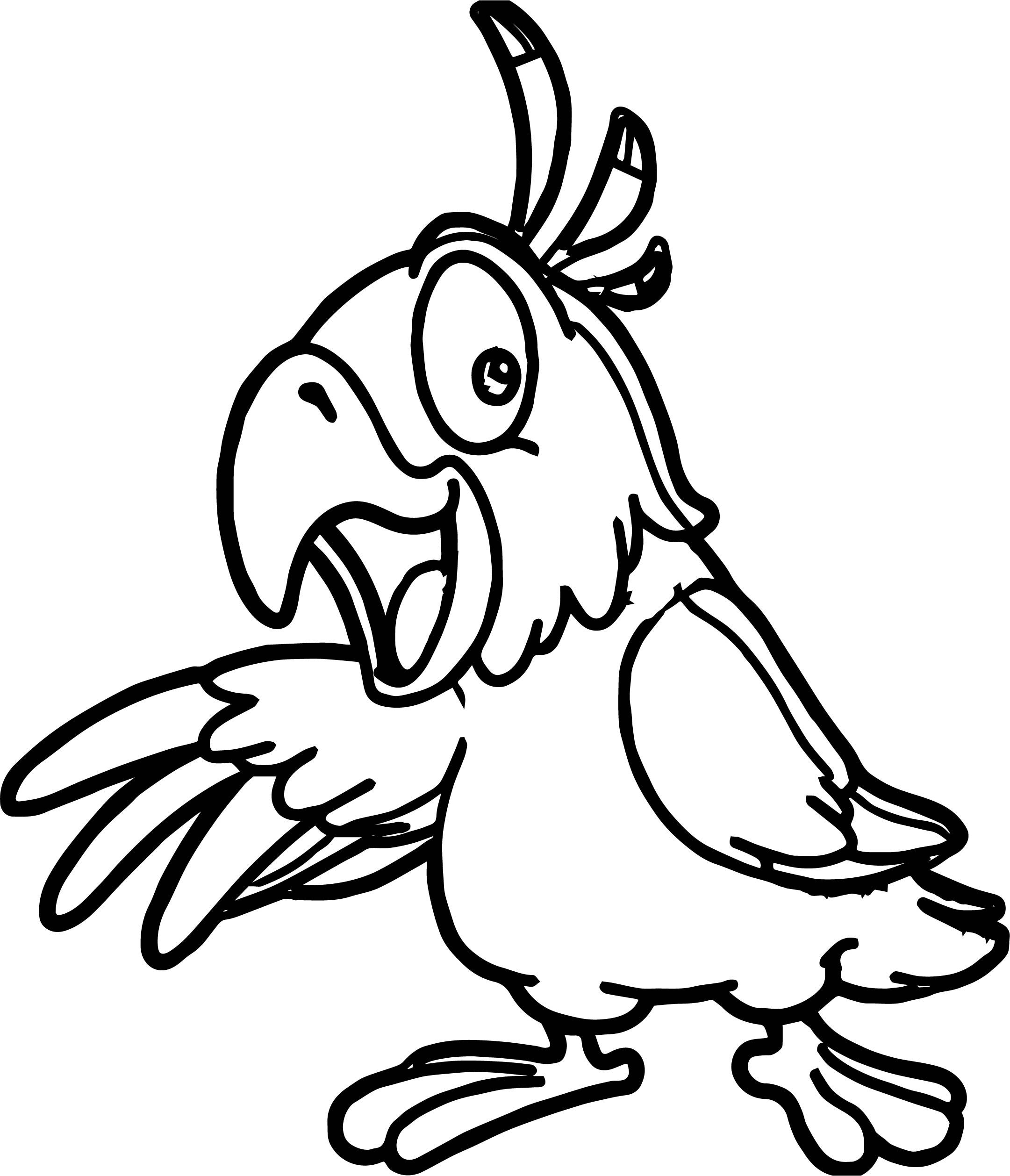 Awesome Parrot Bird Coloring Pages Bird Coloring Pages Animal Coloring Pages Pirate Coloring Pages