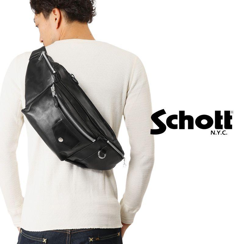 Schott ショット 3169013 RIDERS BODY BAG ライダース ボディバッグ #ミリタリーセレクトショップWIP #MILITARY #bag #backpack #バッグ #ショルダーバッグ #ボディバッグ